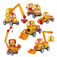 60 pcs 3D DIY Jogo de Construção Magnético Modelo & Brinquedo de Construção de Plástico Blocos Magnéticos Brinquedos Educativos Para Crianças Presente Para crianças