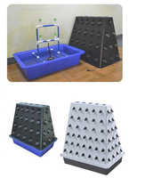 108pcs net cup mobile centrifugal atomizing growing system Aeroponics with cycle timer MIST AERO POT cloner bucket