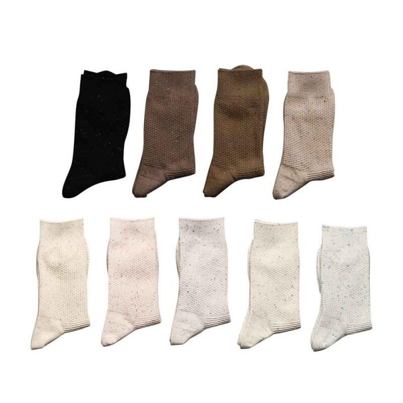 High Quality Autumn Winter Men Black Business Cotton Socks For Men White Casual Long Socks