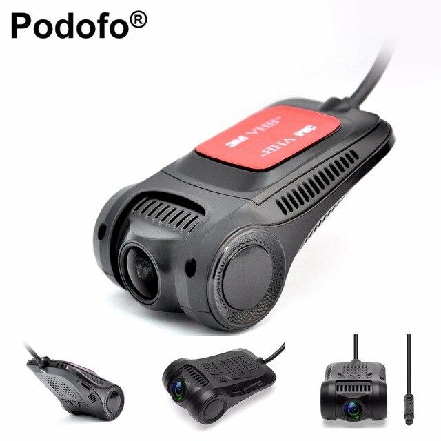 Podofo Видеорегистраторы для автомобилей Камера Новатэк 96655 WiFi dashcam Full HD 1080 P видео регистратор Регистраторы g-сенсор Ночное видение регистраторы DVRs