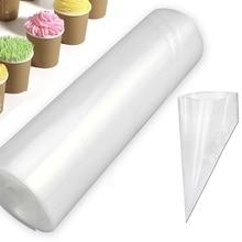 50 шт/рулон одноразовый мешок для теста обледенение трубопроводов торт кекс украшения сумки помадка торт крем Кондитерская насадка Инструменты для выпечки