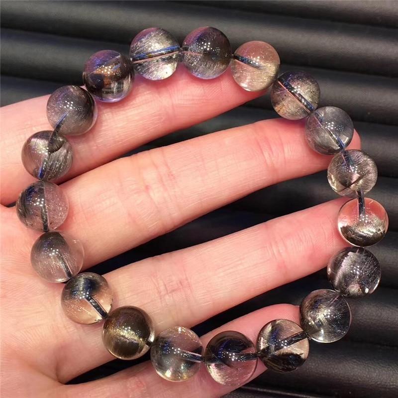 Natural Silver Rutilated Quartz Crystal Bracelet (1)