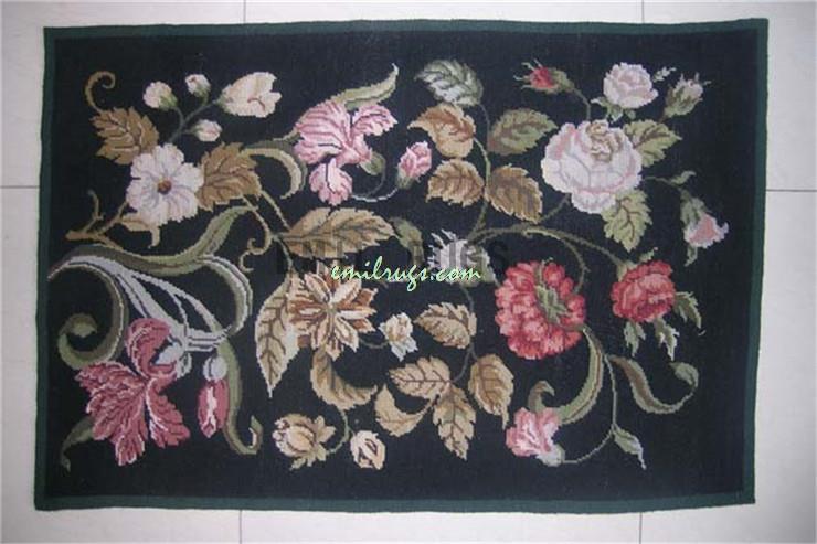 100 Wolle Handgenht Nadel Teppiche Needleopint 61 CM X 91 2 3 Englisch Garten Gc3nee7