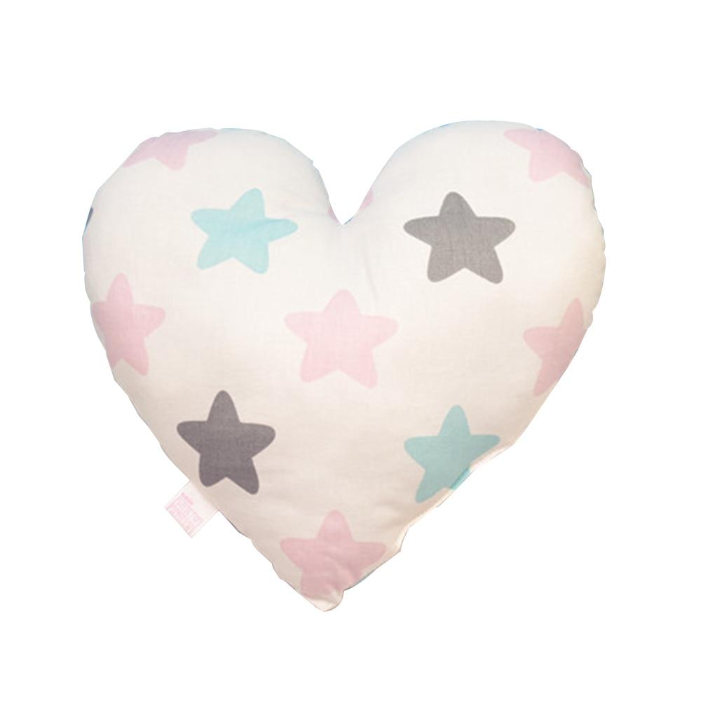 Kształt serca Poduszka dla dziecka Miękka, noworodka Bawełniana - Pościel - Zdjęcie 4