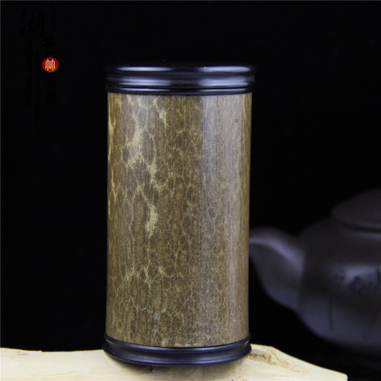 Spot bambou merlot bambou thé cartouche poudre cylindre aloes boîte lie encens boîte ligne encensoir enseignants gros thé ustensiles