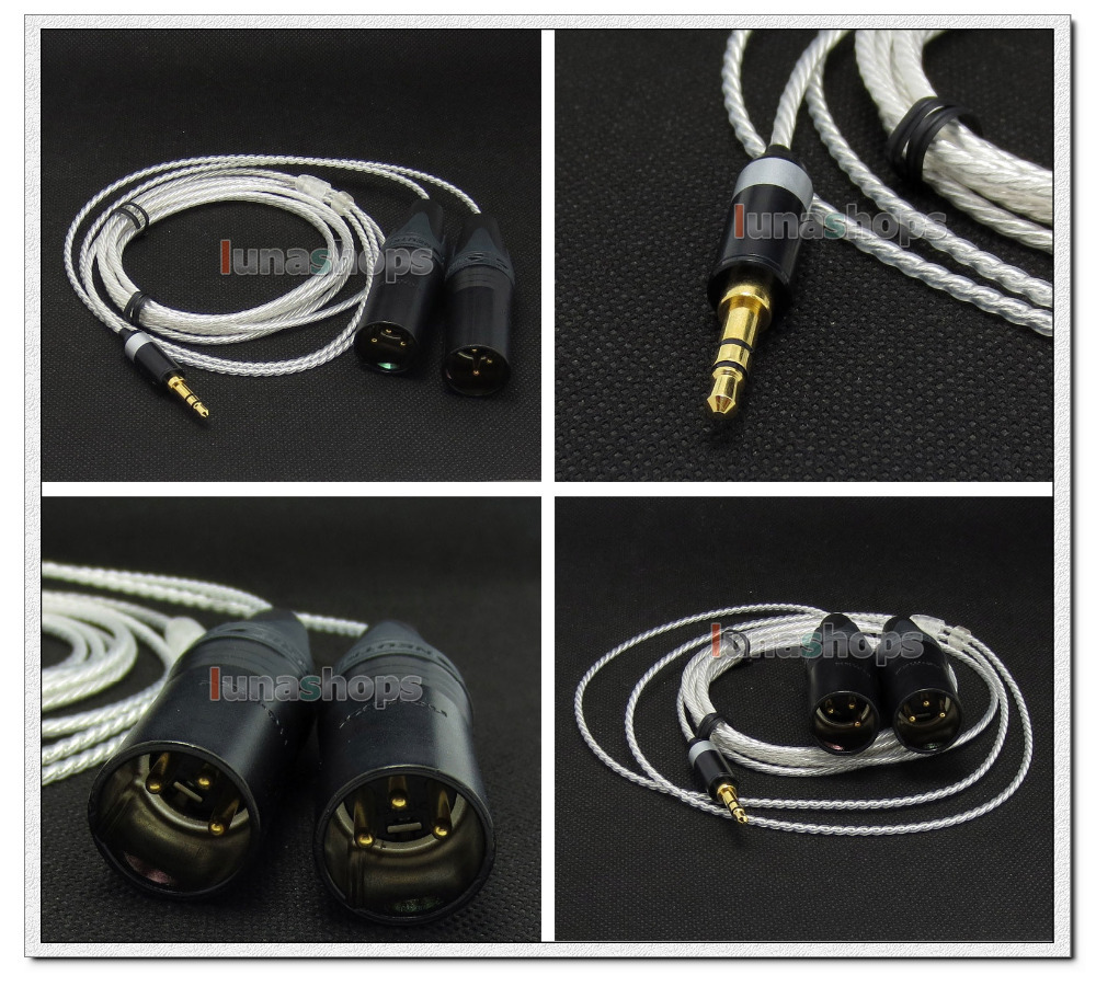 цена на Male 3 Pins XLR Headphone 1.3m 2m 2.5m Cable For philips Fidelio X1 UE6000 UE9000 Sony MDR-1R LN004721