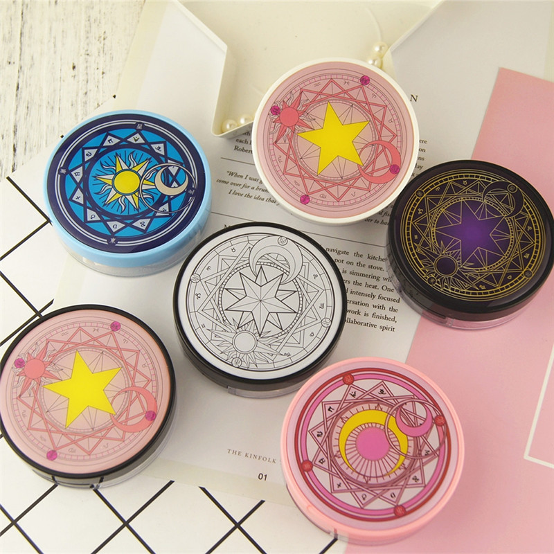 Circle Contact Lens Box Travel Portable Case Storage Container Kit Round Shape Mirror Lenses Cases For Girls Send Randomly