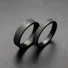 Простой черный цвет скраб кольца 316L нержавеющая сталь мужское женское кольцо Модные ювелирные изделия аксессуары