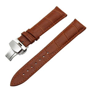 Image 5 - 14/16/18/19/20/21/22/23/24mm Genuine Leather Watch Band for Frederique Constant Stainless Steel Buckle Strap Wrist Belt Bracelet