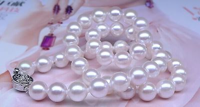 AAA 10-11mm south seanatural round white pearl necklace 18 inch 925silver>Selling jewerly free shippingAAA 10-11mm south seanatural round white pearl necklace 18 inch 925silver>Selling jewerly free shipping