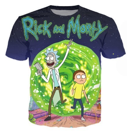 b766da930ee Rick And Morty Galaxy 3D Printed Crewneck T-Shirt Women Men Summer Style T  Shirt Space Nebula tees Cartoon Tops Tees Plus Size