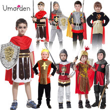 Umorden Halloween Easter Party Kids Children Ancient Roman Greece Greek Warrior Soldier Gladiator Costume Costumes for Boy Boys