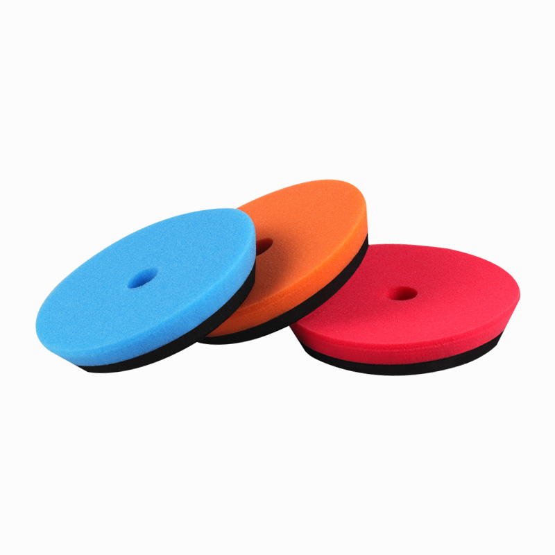 SPTA 6(150mm) Flat Polishing Pad Buffing Pad Sets Blue/Orange/Red color For Car Polisher Buffer Sander-Select Set spta red