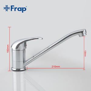 Image 3 - Frap один комплект латунный смеситель с одной ручкой для кухни с креплением на раковину Поворот на 360 градусов хромированная отделка F4903 F4904