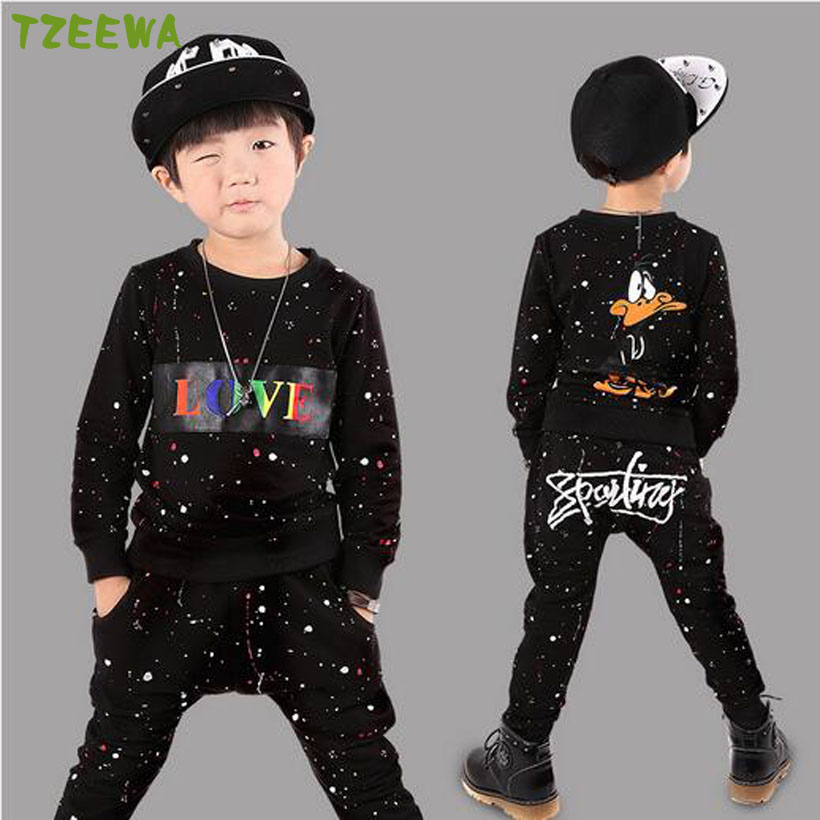 New Spring Autumn Children Clothing Suits Fashion Long Sleeve Kids Tops+Pants Children Tracksuit Boys Clothes Set