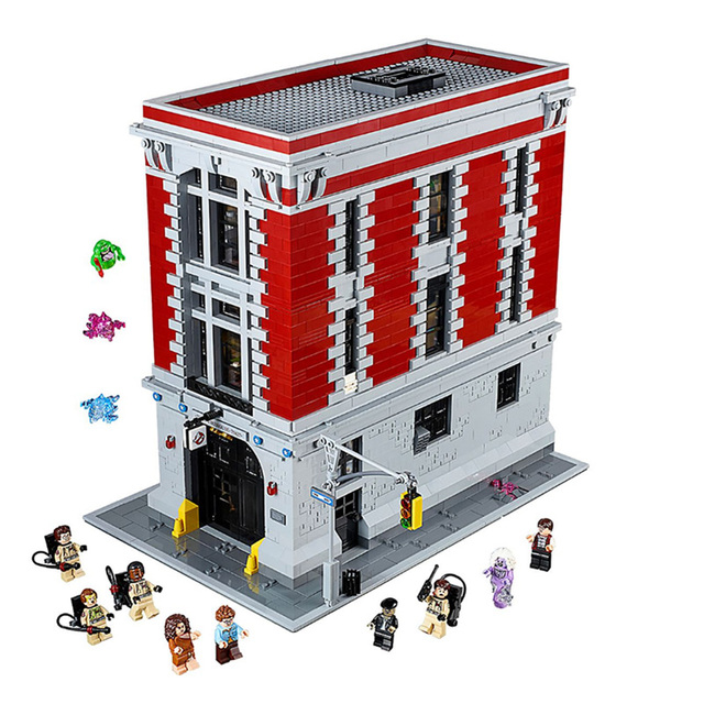 Ghostbusters Firehouse Headquarters Ghostbusters Ecto-1&2 Compatible Legoings 75827 75828 building blocks bricks kids toys gifts