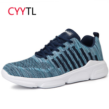 CYYTL Men Casual Sneakers 2019 Fashion Air Mesh Shoes Lace-up Lightweight Walking Breathable Tenis Sapato Masculino Zapatillas