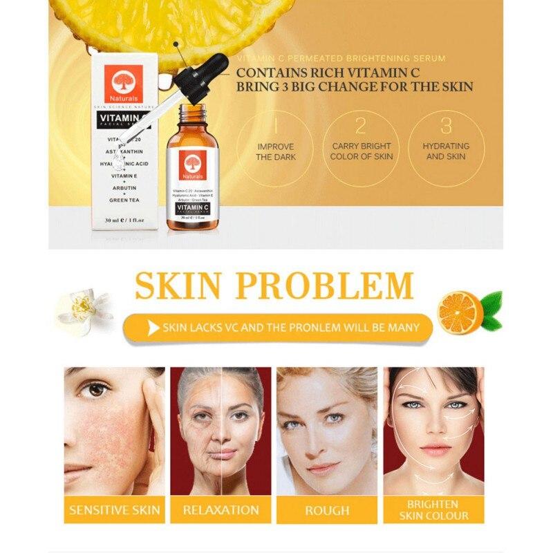 Vitamin C Essence Hydration Moisturizing Whitening Lighten Melanin Despeckle Facial Care Serum Treatment Blackhead Remover