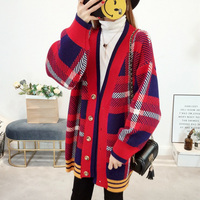 ZDFURS*Hot Women Sweaters Autumn Winter Casual Cardigan Fashion Knitted Solid Slim Lovely Sweaters Elegant stripes Cardigans