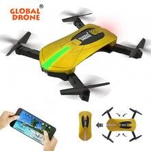 Bolso Dobrável Quadcopter Zangão Zangão Selfie GW018 Global G-Senor Controle Remoto HD Câmera Drone vs JY018/XS809W