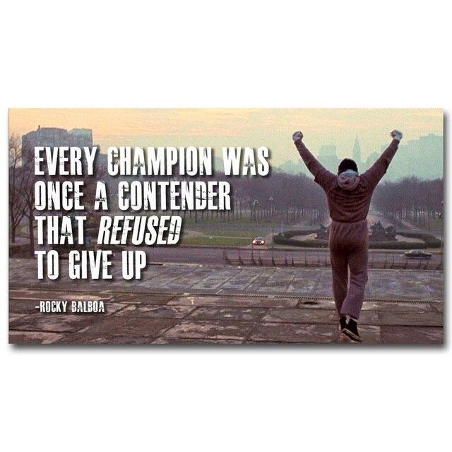 Rocky Quote | Rocky Balboa Motivation Quote Art Silk Poster Drucken Inspirational