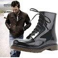 Koovan Человек Дождя Сапоги 2017 Новая Мода Мужская Обувь Резиновая Мужчины Черный Мартин Сапоги Дождь Обувь Большой Размер 39-45
