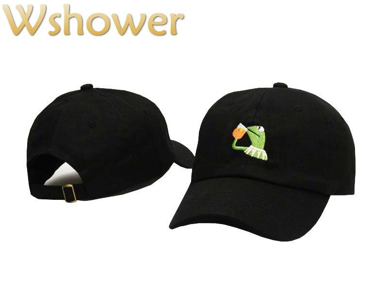 which in shower Low Profile Cartoon Frog Hat Cotton embroidery Dad Hat Women Girl's Baseball Cap Hip Hop Men's Bone Gorras stylish cartoon lizard embroidery hip hop black baseball hat