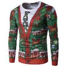 Christmas Man's T-shirt Coat Wholesale False Two Men's Personality Christmas Long Sleeved T-shirt XT01