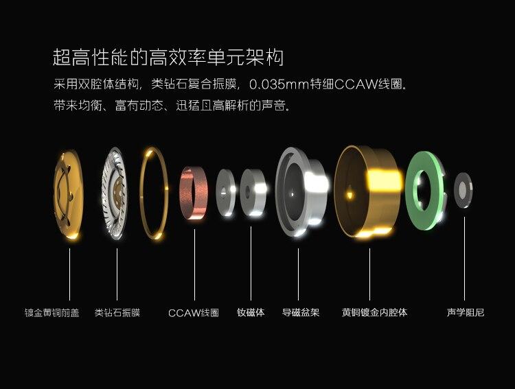 Date Mode Moondrop Kanas Pro Diamant de Zinc Alliage De Magnésium Dynamique HIFI Dans L'oreille Écouteurs HIFI Moniteur Écouteurs EarplugEarbud - 3