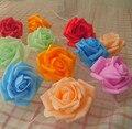 Atacado 100 unidades/pacote de Multi-cor Rosas Artificiais PE para Brial Mão Flor/Flor Da Decoração Do Casamento/Fotografia Props 61