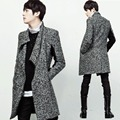 Prince Men's Korean Fashion Oblique Zipper Turn-down Turtleneck Collar Medium-long Slim Fit Cardigan Sweater Coat M-4XL HOT 2016