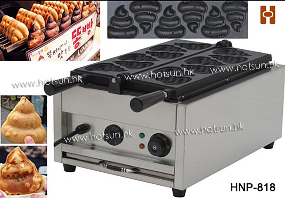 Commercial Use Non-stick 110v 220v Electric Poo Shaped Waffle Iron Maker Machine Baker носки низкие toy machine poo poo head ankle brown 1065626