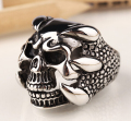 Hot Fashion Skeleton Titanium Steel Ring Stallone Lucky Men Ring Personalized Jewelry