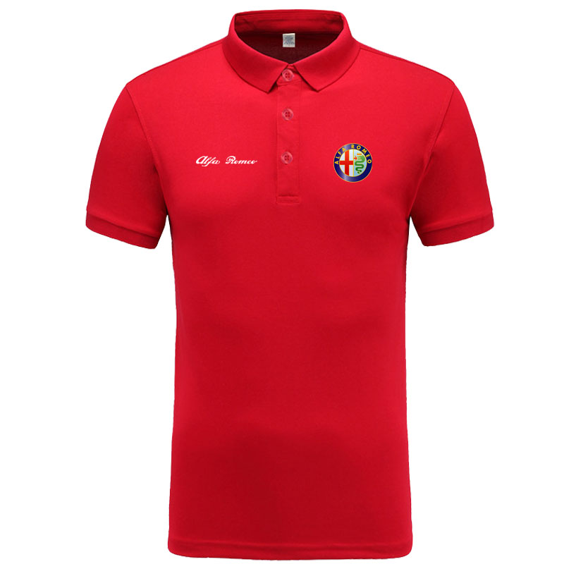 New classic Alfa Romeo logo   Polo   shirt men brand-clothing casual solid summer   Polos   cotton