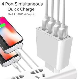 Image 4 - GUSGU אוניברסלי USB מטען 4 יציאות עבור טלפון נייד מהיר נסיעות מטען קיר 5 v עבור iPhone סמסונג Xiaomi iPad tablet