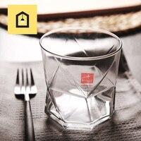 Hoge Kwaliteit Sap Glas Water Mok Thee Cup Gemaakt In Italië Geometrie Multi-color Blazen Paars Grey Bril Transparant groothandel