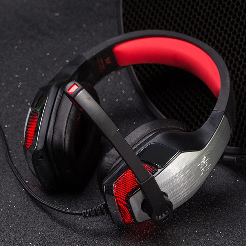 big BASS KOTION EACH G5300 Gaming Headphones Headsets With Microphone Wired Led Light For PC Computer Video Games