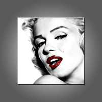 Most Popular Super Star Marilyn Monroe Oil Painting For Living Room Decoration Modern Abstract Monroe Canvas Painting