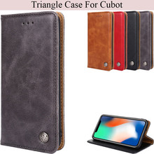 K'try Triangle Leather Phone Case For Cubot Note S X18 R9 R11 X18 Note Plus J3 Pro Nova Power Hafury Mix P20 X19(China)