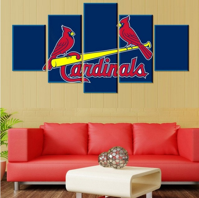 5 Pieces Arizona Cardinals Canvas Prints Painting Wall Art Home ...