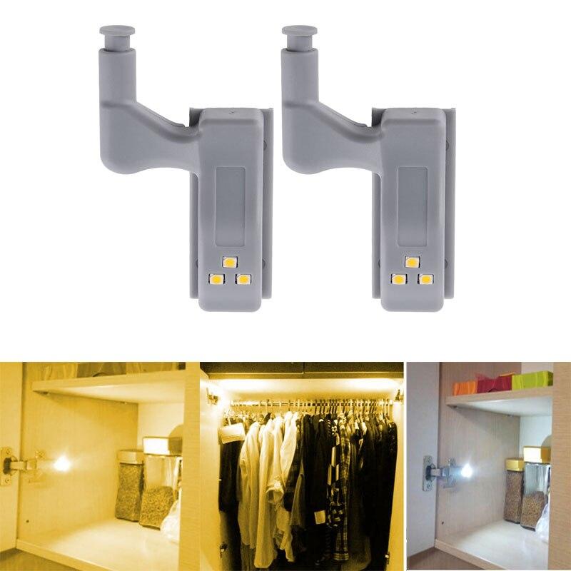 Hardware Ketten Verantwortlich Universal 0,25 W Led Unter Kabinett Licht Scharnier Sensor Licht Für Küche Schlafzimmer Wohnzimmer Schrank Schrank Schrank