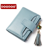 Fashion Leather Ma'am Fashion Short Fund Wallet female Woman Three Fracture Small Change Package coin purses holders womens sale