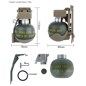Image 2 - Airsoft M67 Dummy Grenade Model Waist Clip Plastic Molle System M 67 Gren Pouch Storage for Outdoor Cosplay Tactical Paintball
