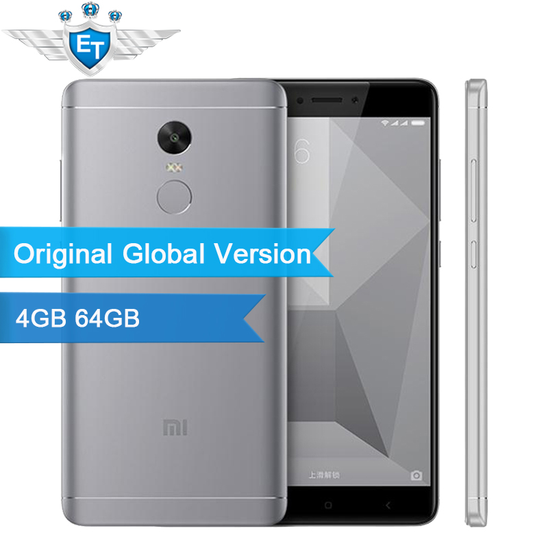 Цена за Оригинал глобальный версия xiaomi redmi note 4 смартфон 4 ГБ 64 ГБ snapdragon 625 Octa Core CPU 5.5 ''1080 P Дисплей 13.0 МП FCC CE