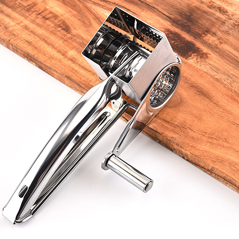 <font><b>Rotary</b></font> <font><b>Cheese</b></font> <font><b>Grater</b></font> <font><b>Stainless</b></font> <font><b>Steel</b></font> <font><b>Cheese</b></font> Slicer Shredder Butter Cutter <font><b>Cheese</b></font> Shredder Slicers Garlic Grinder Kitchen Accesso image