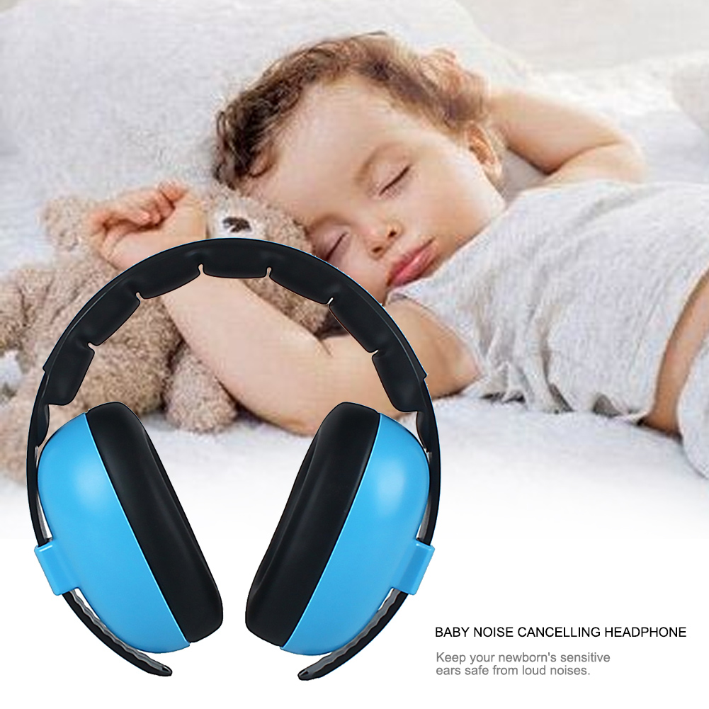 Baby Kids Wireless Soft Earmuff Home Adjustable Headband Portable Ear Protection Gift Care Headphone Travel Noise Canceling