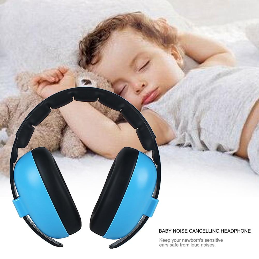 Baby Kids Wireless Soft Earmuff Home Adjustable Headband Portable Ear Protection Gift Care Headphone Travel Noise Canceling
