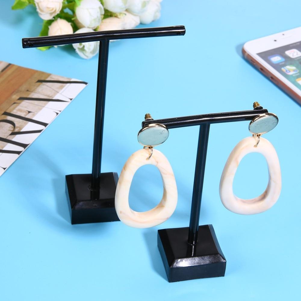 2pcs Glass Earrings Jewelry Display Organizer T Bar Stand Holder Storage Hanger Showcase Rack Organizer Glass Jewelry Organizer