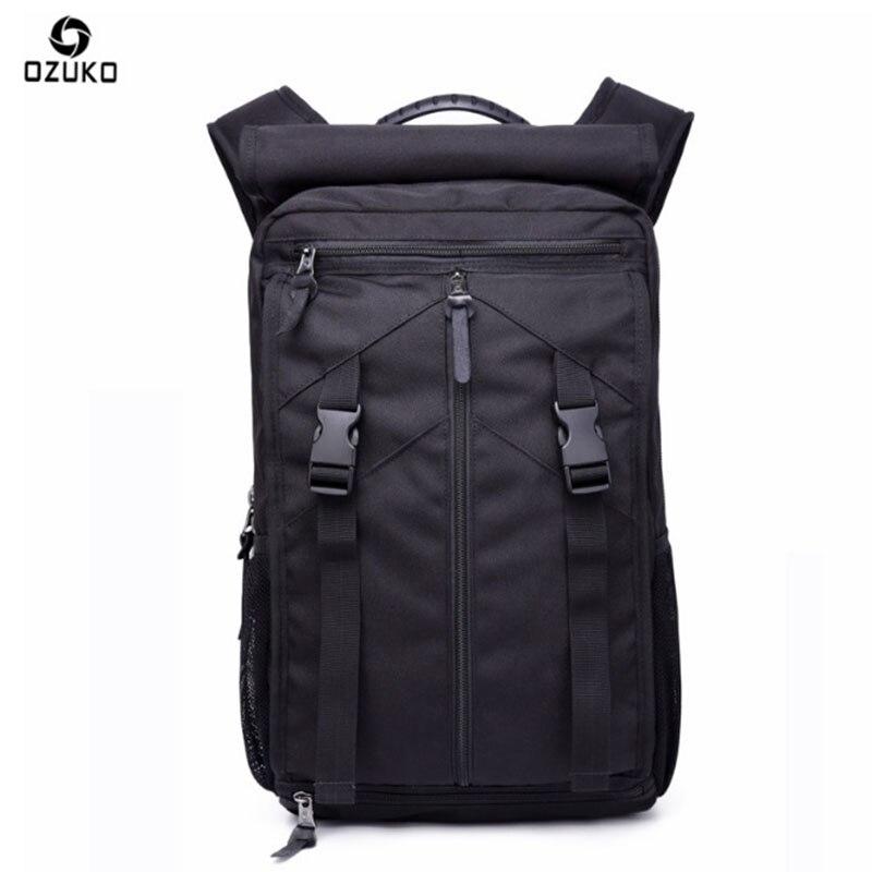 OZUKO sac à dos hommes loisirs Anti-vol ordinateur portable haute capacité hommes voyage épaule sac à dos sacs d'école pour adolescents