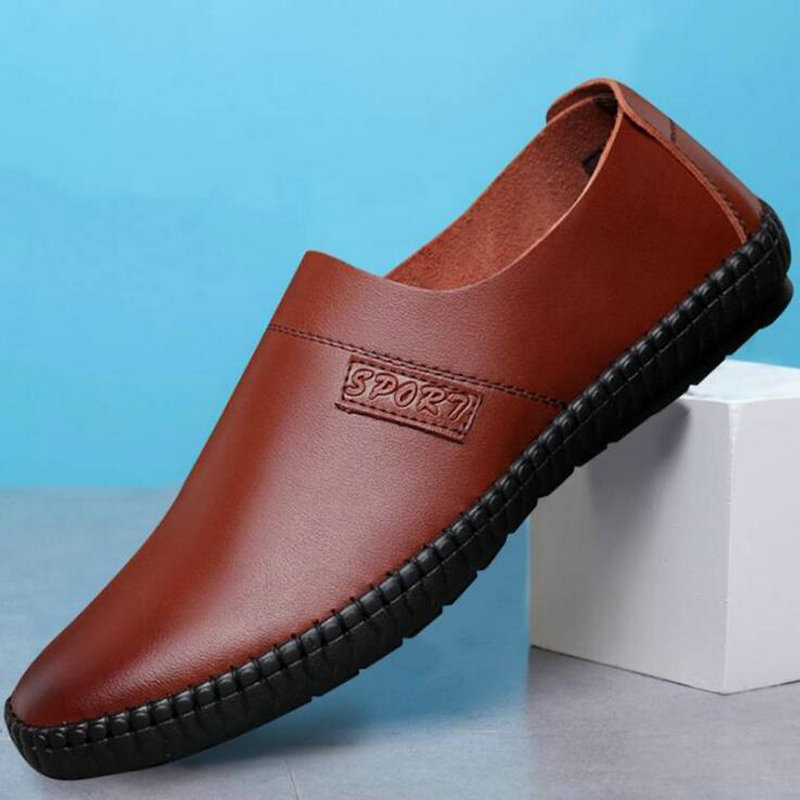 2018 New Footwear Brand Man Casual Slip-on Moccasins Loafers shoes Men Leather Driving lazy Flats super soft Shoes OO-89 northmarch men s casual driving shoes slip on loafers male genuine leather shoes soft comfort moccasins flats men shoes footwear